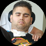 Spinal Cord Injury patient Randeep
